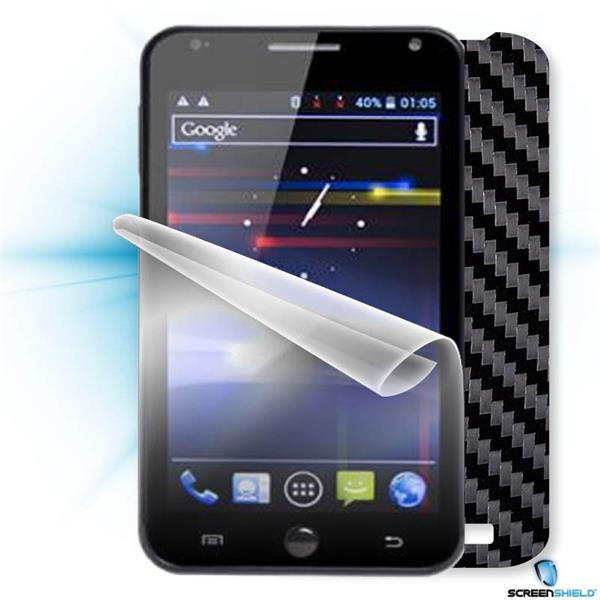 ScreenShield GoClever Fone 500 - Films on display and carbon skin (black)