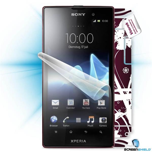 ScreenShield Sony Xperia ION LT28h - Film for display protection and voucher for decorative skin (including shipping fee