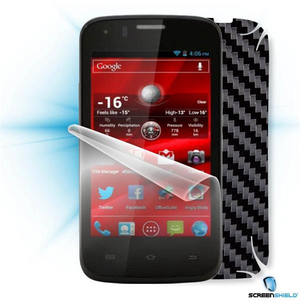 ScreenShield Prestigio PAP 4055 DUO - Films on display and carbon skin (black)