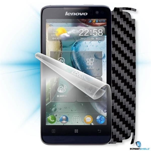 ScreenShield Lenovo P770 - Films on display and carbon skin (black)