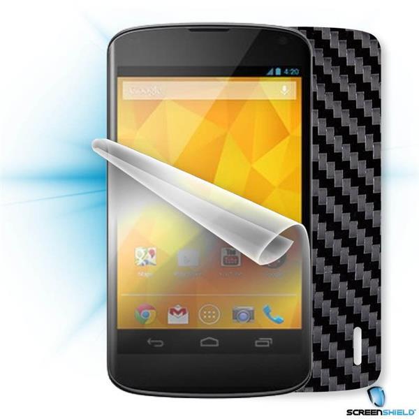 ScreenShield LG Nexus 4 - Films on display and carbon skin (black)