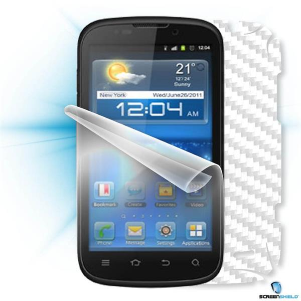 ScreenShield ZTE Grand X IN - Films on display and carbon skin (white)