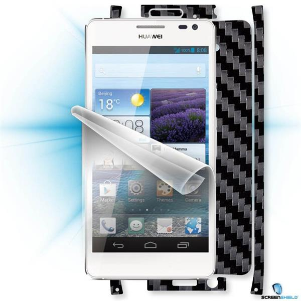 ScreenShield Huawei Ascend D2 - Films on display and carbon skin (black)