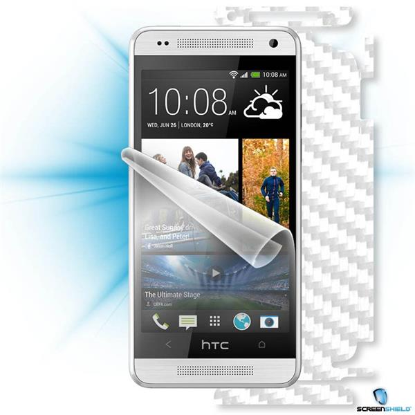 ScreenShield HTC ONE mini - Films on display and carbon skin (white)
