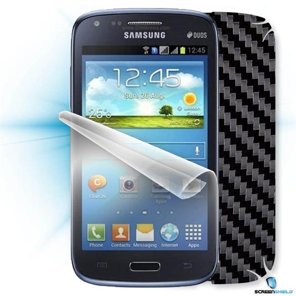 ScreenShield Samsung Galaxy Core Duos i8262 - Films on display and carbon skin (black)