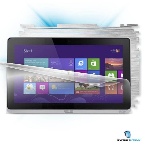 ScreenShield Acer ICONIA TAB W700 - Films on display and carbon skin (silver)