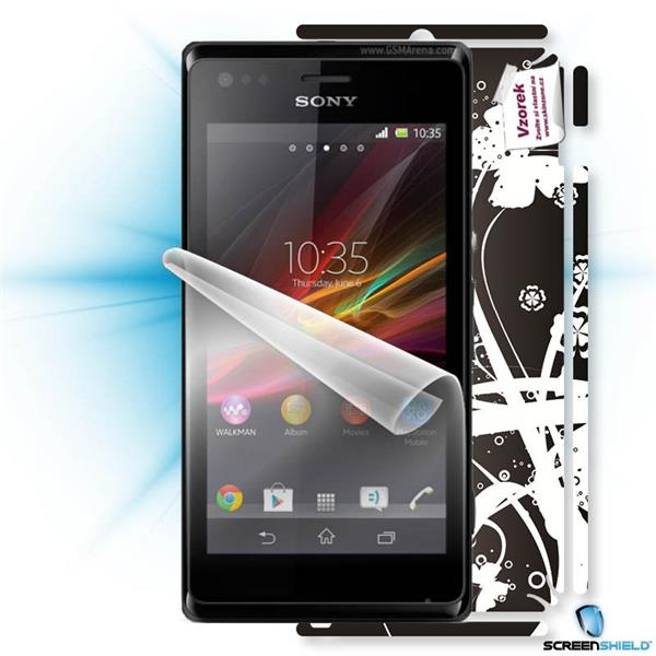 ScreenShield Sony Xperia M - Film for display protection and voucher for decorative skin (including shipping fee to end