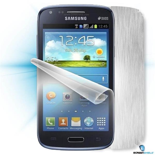ScreenShield Samsung Galaxy Core Duos i8262 - Films on display and carbon skin (silver)