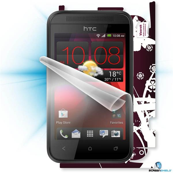 ScreenShield HTC Desire 200 - Film for display protection and voucher for decorative skin (including shipping fee to end