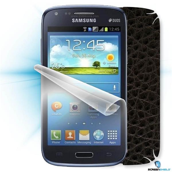 ScreenShield Samsung Galaxy Core Duos i8262 - Films on display and carbon skin (leather)