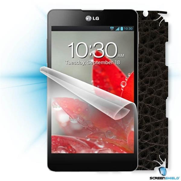 ScreenShield LG Optimus G E975 - Films on display and carbon skin (leather)