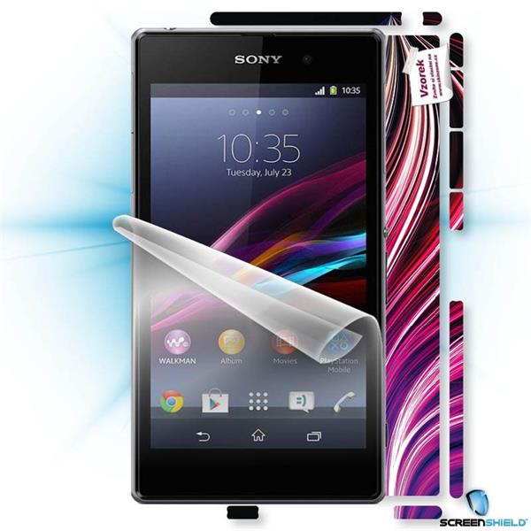ScreenShield Sony Xperia Z1 - Film for display protection and voucher for decorative skin (including shipping fee to end