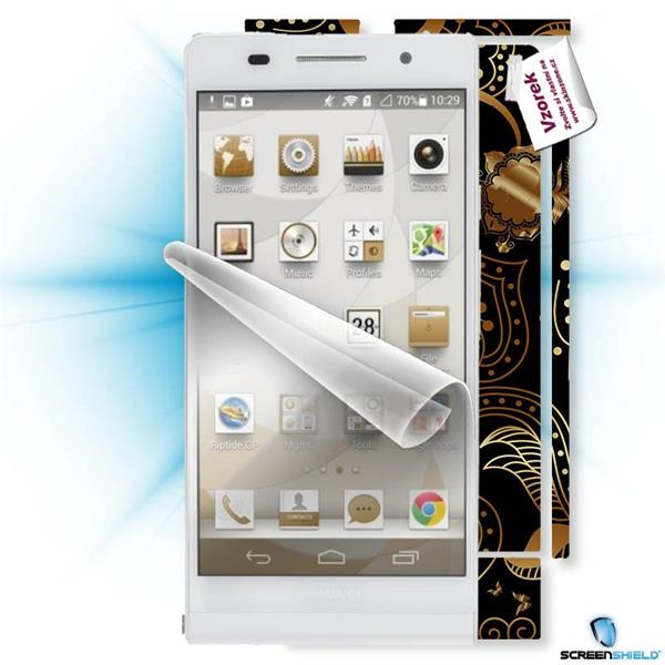 ScreenShield Huawei Ascend P6 - Film for display protection and voucher for decorative skin (including shipping fee to e