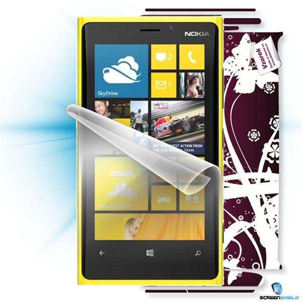 ScreenShield Nokia Lumia 920 - Film for display protection and voucher for decorative skin (including shipping fee to en