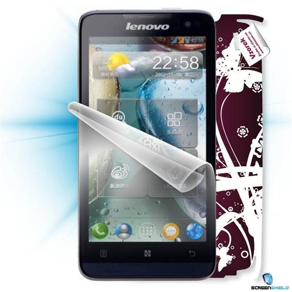 ScreenShield Lenovo P770 - Film for display protection and voucher for decorative skin (including shipping fee to end cu