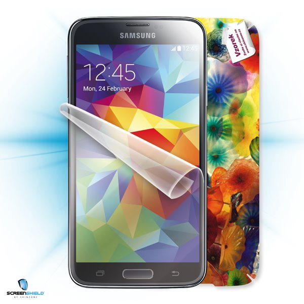 ScreenShield Samsung Galaxy S5 SM-G900 - Film for display protection and voucher for decorative skin (including shipping