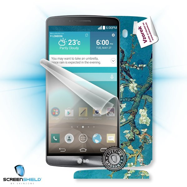 ScreenShield LG D855 G3 - Film for display protection and voucher for decorative skin (including shipping fee to end cus