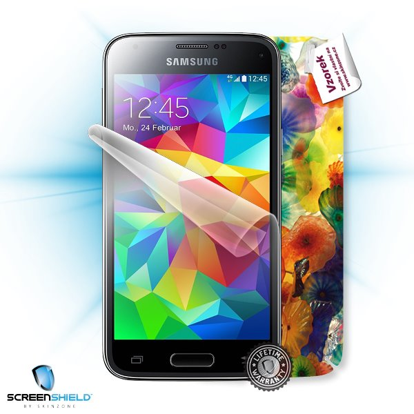 ScreenShield Samsung Galaxy S5 Mini G800F - Film for display protection and voucher for decorative skin (including shipp
