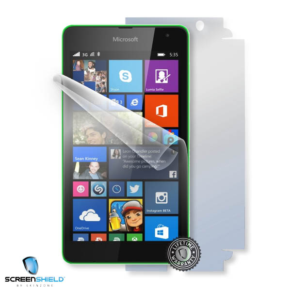 ScreenShield Nokia Lumia 535 - Film for display + body protection