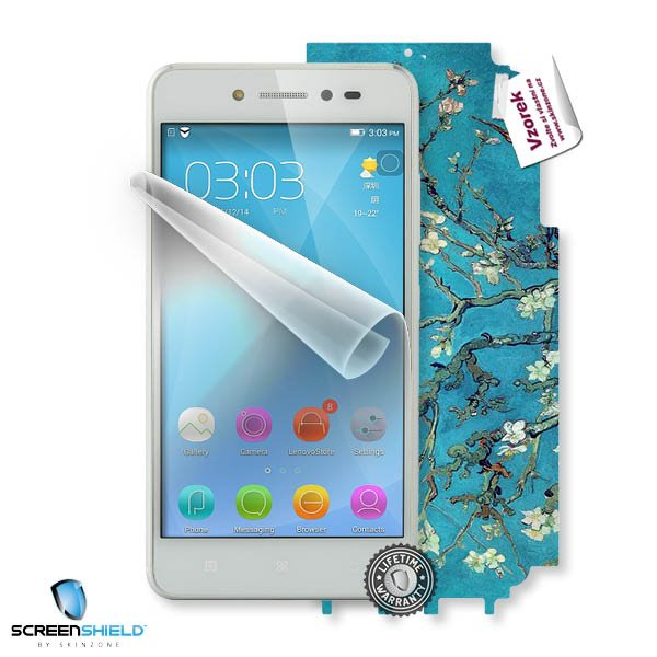 ScreenShield Lenovo S90 Sisley - Film for display protection and voucher for decorative skin (including shipping fee to