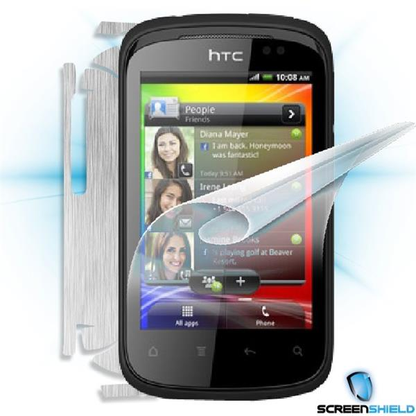 ScreenShield HTC Explorer - Films on display and carbon skin (silver)