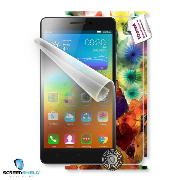ScreenShield Lenovo A7000 - Film for display protection and voucher for decorative skin (including shipping fee to end