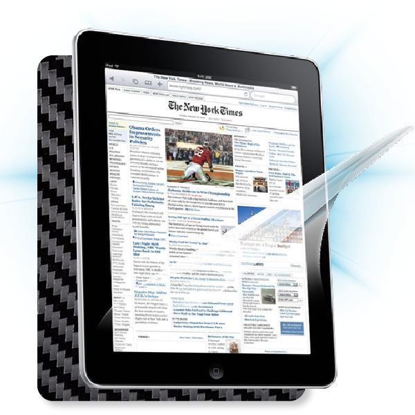 ScreenShield iPad - Films on display and carbon skin (black)