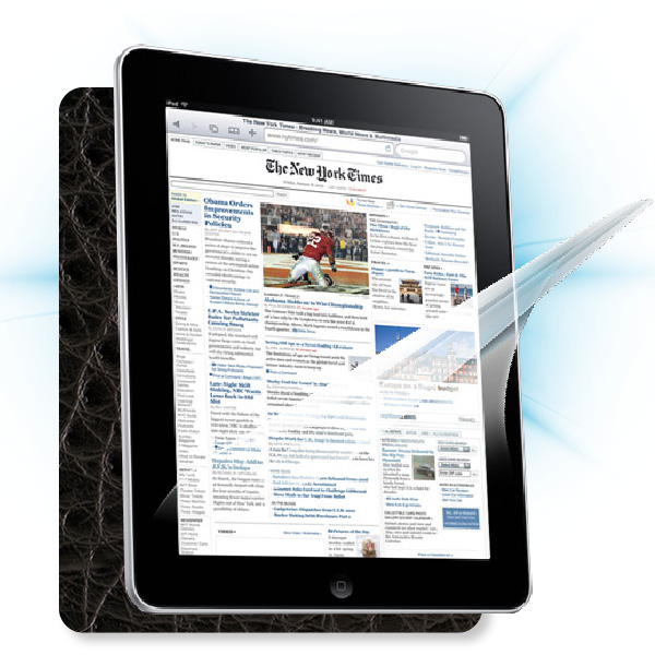 ScreenShield iPad - Films on display and carbon skin (leather)