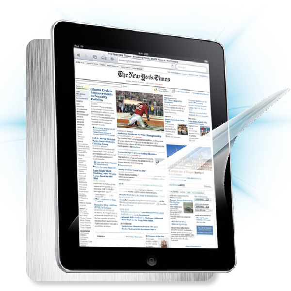 ScreenShield iPad - Films on display and carbon skin (silver)