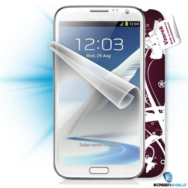 ScreenShield Samsung Galaxy Note II N7100 - Film for display protection and voucher for decorative skin (including shipp
