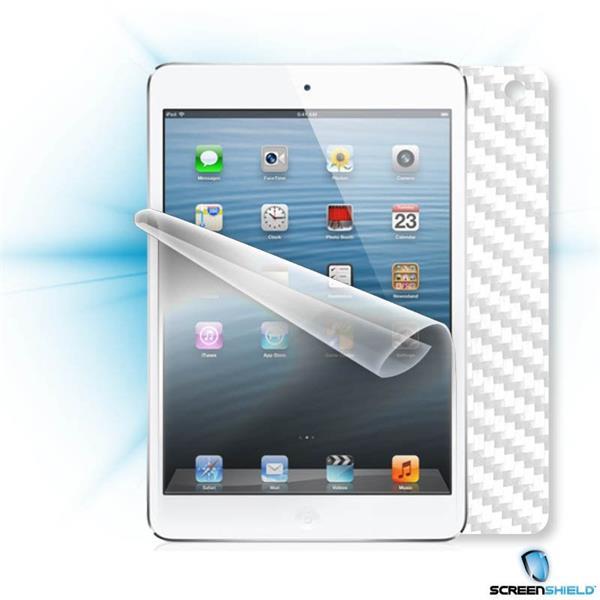 ScreenShield Apple iPAD Mini wifi - Films on display and carbon skin (white)