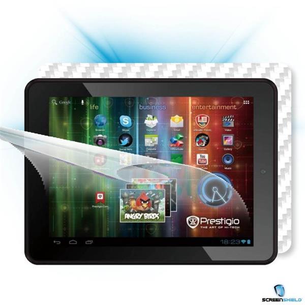ScreenShield Prestigio MultiPad PMP 5197D - Films on display and carbon skin (white)