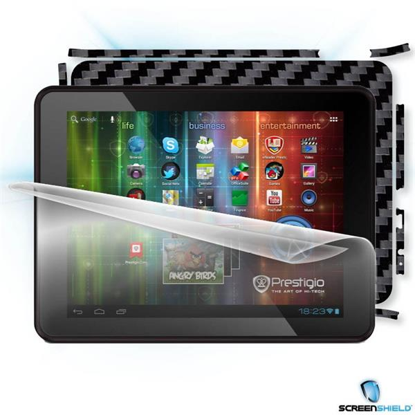 ScreenShield Prestigio PMP5580 - Films on display and carbon skin (black)