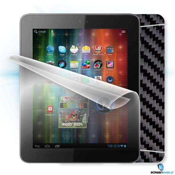 ScreenShield Prestigio MultiPad 2 8.0 Prime PMP5780D - Films on display and carbon skin (black)
