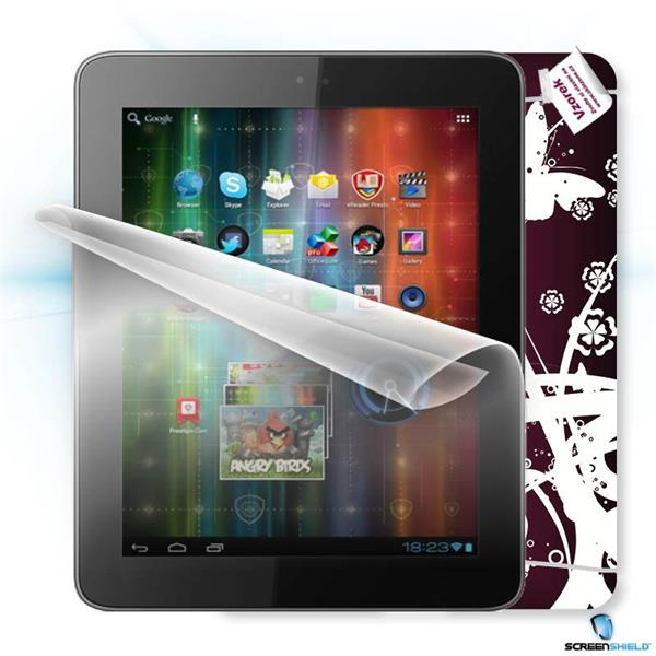 ScreenShield Prestigio MultiPad 2 8.0 Prime PMP5780D - Film for display protection and voucher for decorative skin (incl