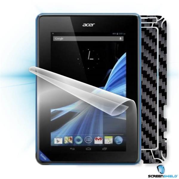 ScreenShield Acer ICONIA TAB B1-A71 - Films on display and carbon skin (black)