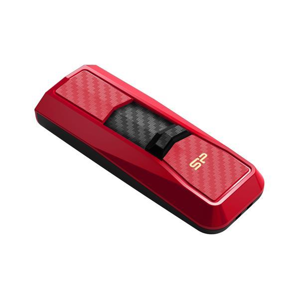 64 GB . USB 3.0 kľúč ..... Silicon Power BLAZE B50, červený