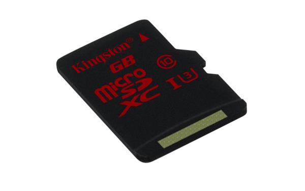 32 GB . microSDHC karta Kingston Class U3 UHS-I bez adaptéra (90R/80W)