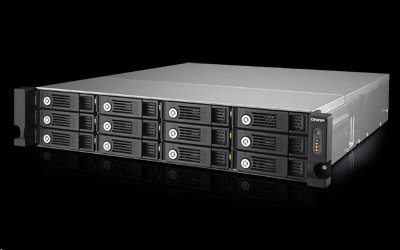 QNAP™ TVS-1271U-RP-i3-8G12bay 8GB 4LAN 10G-ready, iSCSI redundant power