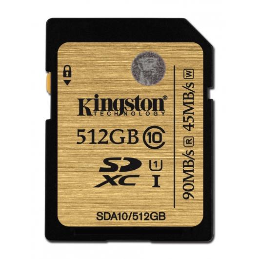 512 GB . SDXC karta Kingston . Class 10 UHS-I Ultimate ( r90MB/s, w45MB/s )