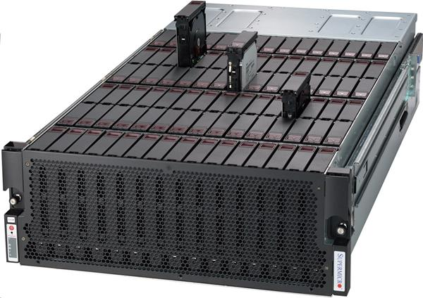 "Supermicro SuperChassis 946ED-R2KJBOD 90 x 3.5"" or 2.5"" Top Loading SAS3 12Gb/s Hot-swappable HDD"