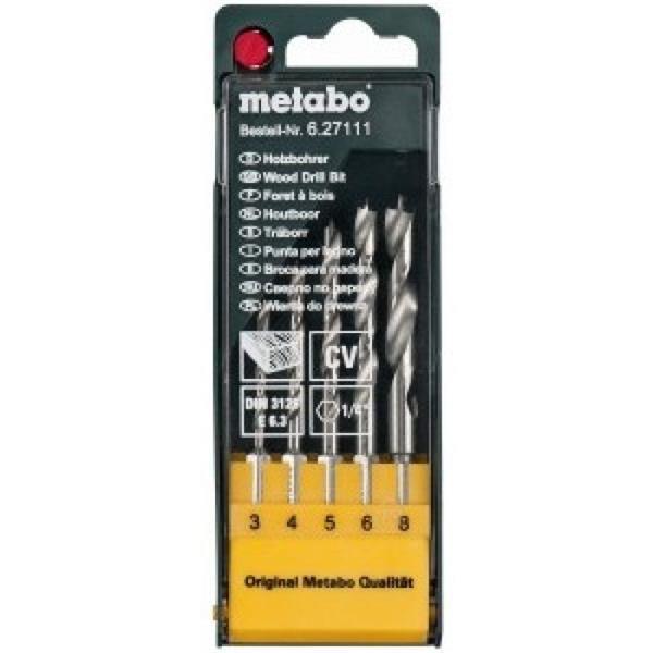 Metabo Kazeta s vrtákmi do dreva CV 5-dielna