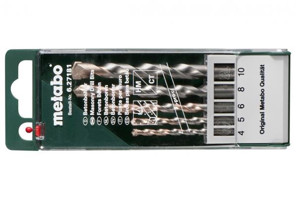 Metabo Kazeta s vrtákmi do betónu pro, 5-dielna