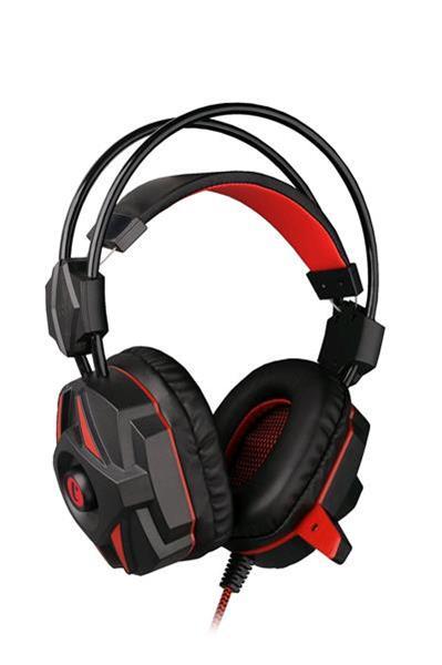 C-TECH hráčske slúchadla s mikrofónom Kalypso (GHS-04R) Čierno-červené