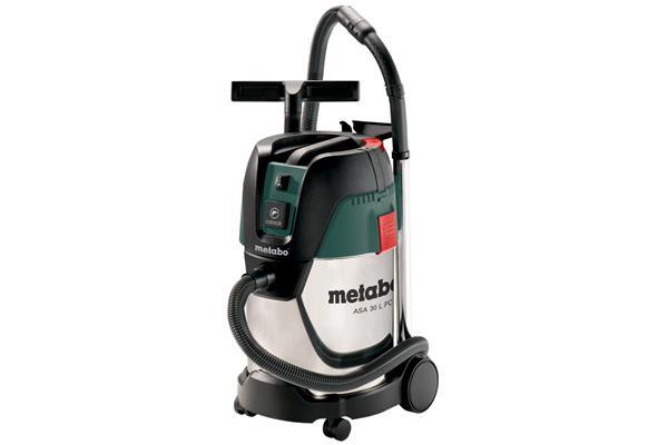 Metabo ASA 30 L PC Inox 1250-Wattový Vysávač s manuálnym čistením filtra a zapínacou automatikou