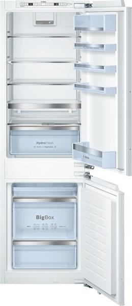 BOSCH_Chladnicka Ploche panty SoftClose, chl.188l, mraz.74l, 152kWh/365dni A+++ Dotyk.displej LowFrost HydroFresh LED