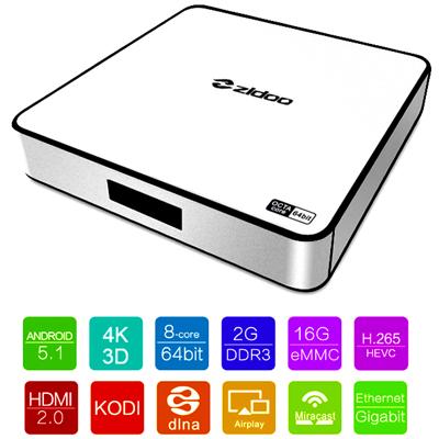 ZIDOO X6 PRO - multimediálny 4K prehrávač s výstupom HDMI 2.0, H.265
