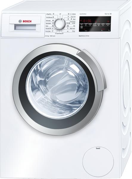 BOSCH_Pracka max 1000 ot. / min., obsah 6,5 kg, A+++ - 20%, veľký LED displej, VarioSoft bubon, EcoSilence Drive