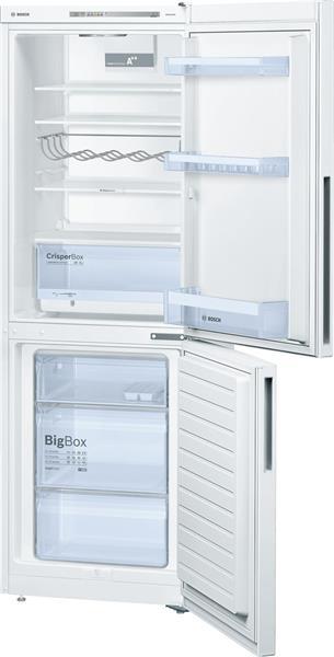 BOSCH_Chladnicka 176 cm, chlad. 192l, mraz. 94l, 219 kWh/365 dni LED-displej A++ Biela