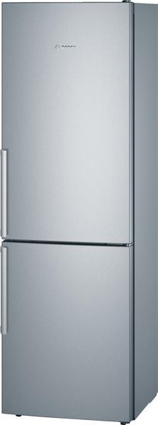 BOSCH_Chladnicka 186 cm, chlad. 214l, mraz. 88l, 223 kWh/365 dni LED-displej (2 chladiace okruhy) A++ InoxLook